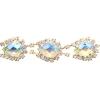 Rhinestone Trim Teardrop 5Yd Spool 17mm Crystal Aurora Borealis/gold
